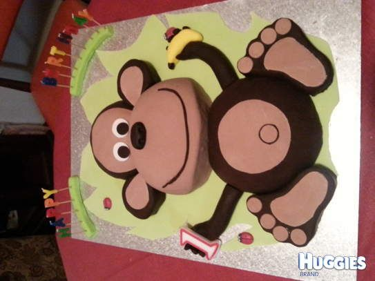 Cheeky Monkeys first birthday for the big cake for everyone its a