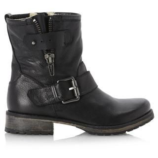 DUNE LADIES PROMEY Side Zip Leather Ankle Biker Boot