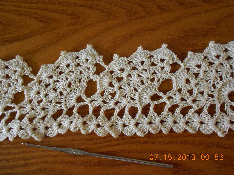 Crochet Orilla Abanicos Grandes   ana   Pinterest   Muy bonita, Hilo ...