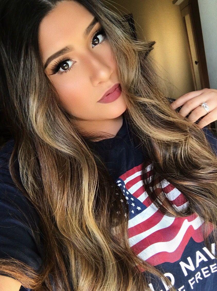 Andrea Vega Itsandreavegaa Balayage Highlights Summertime Hair Sunkissed