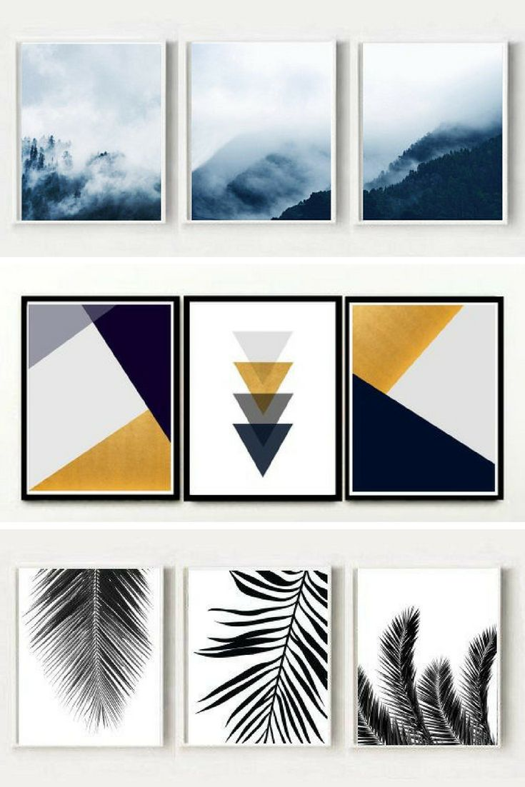 Scandi and minimalist printable wall art from Honey Tree Prints #etsy #printable #wallart #scandi #triptych