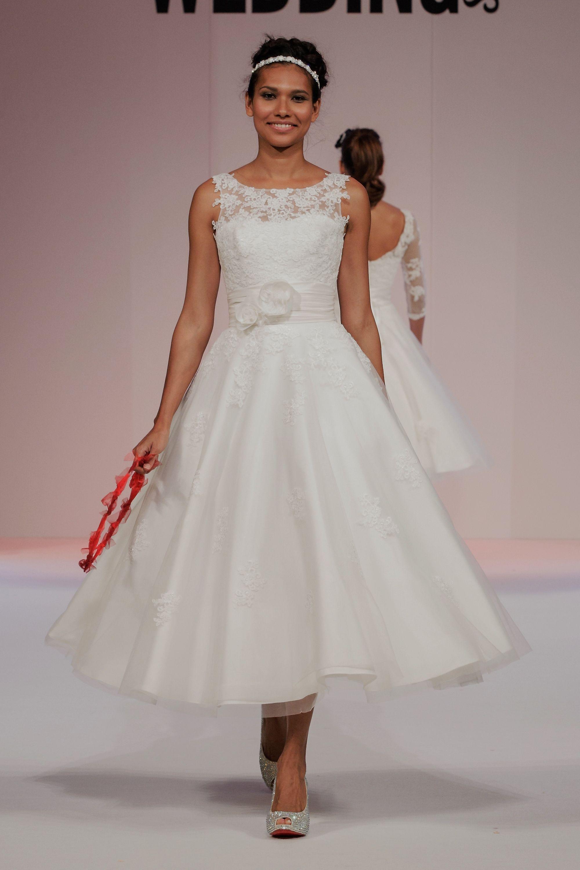 Beautiful Tea length Vintage Inspried Wedding Dress ANARA