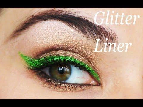 Glitter Eyeliner Makeup - YouTube