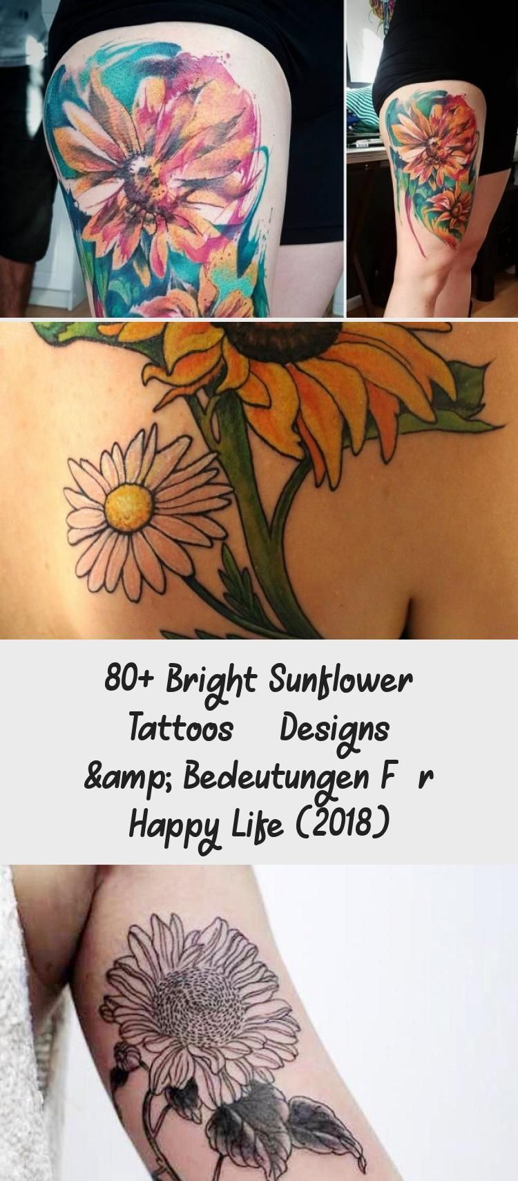 Photo of 80+ Bright Sunflower Tattoos – Designs & Meanings for Happy Life (2018) #be …