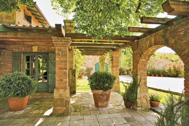Pergola Mediterran mediterrán udvarház courtyard landscape outdoor ℭƙ