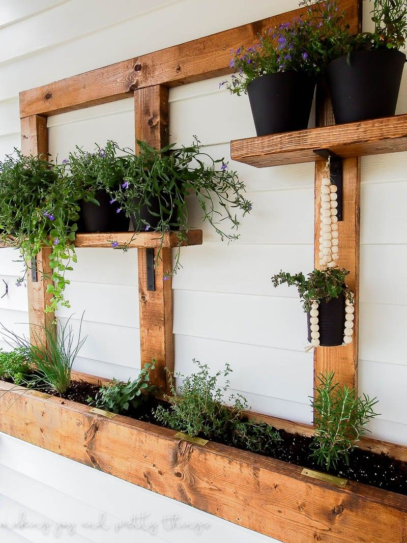 Diy Vertical Herb Garden And Planter 2X4 Challenge With 640 x 480