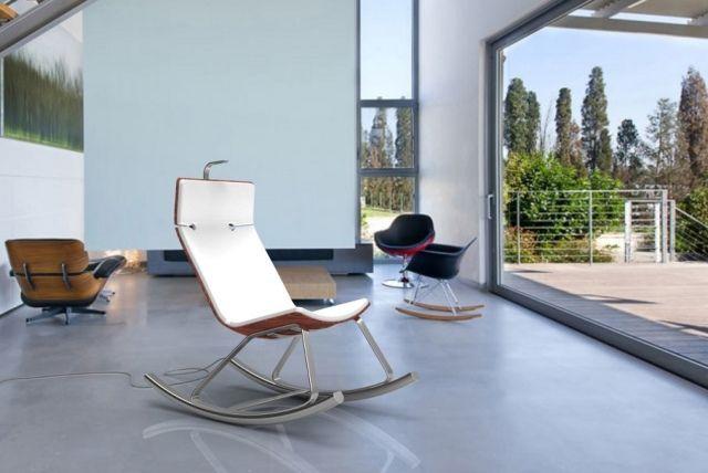Schommelstoel u stijlvolle en moderne ideeën voor het interieur