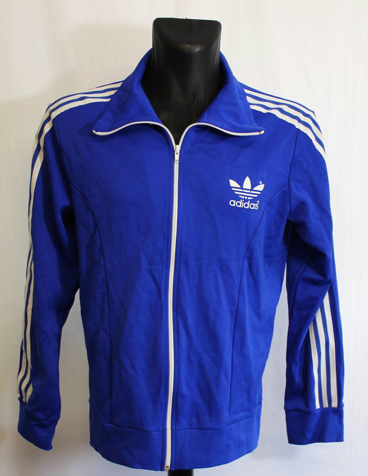 Vintage Adidas Originals Dark Blue 70S/80S Tracksuit Retro Jacket D7 M/l •  EUR 34,18