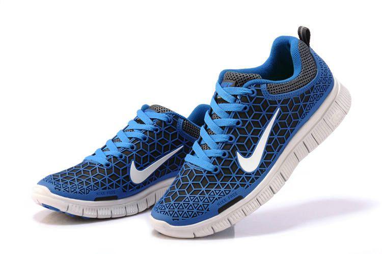 03bcb2b3c020 NIKE 6.0 Free Run Kangaroo leather Shoes Royal Blue White Men Women Nike  Free Shoes