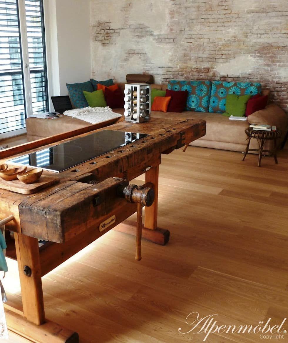 Hobelbank Küche rustikale esszimmer bilder alpenmöbel hobelbank möbel für esszimmer
