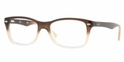 a187d87e29 Ray Ban Eyeglasses RX5228 5043 Brown Gradient Opal Demo Lens 50mm  Watches   Amazon.com