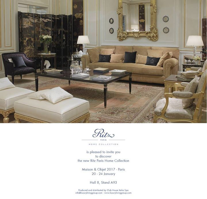 LUXURY LIVING Ritz Paris Home Collection debuts at Maison \ Objet - chambre des metiers de seine et marne
