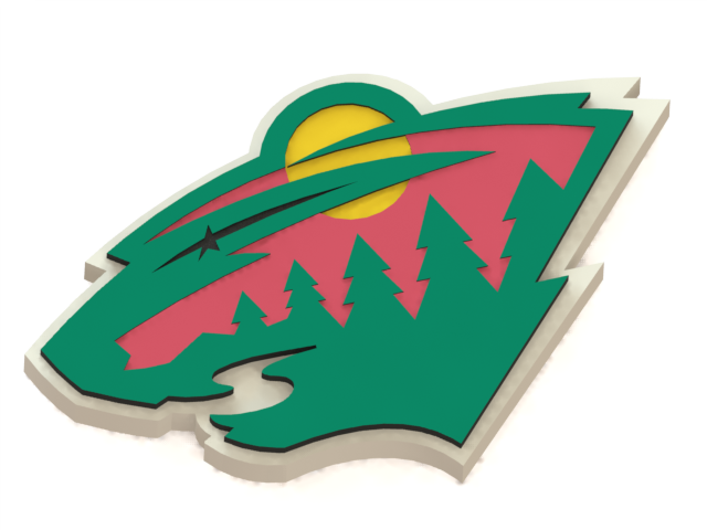 Minnesota Wild ice hockey team logo #MinnesotaWild #NHL #3Dmodel #logo #icehockey