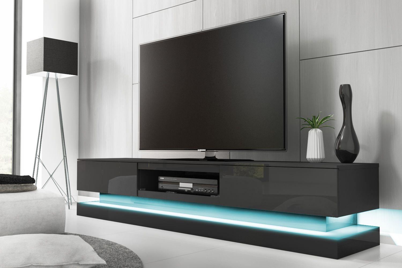 anthracite grey high gloss tv unit