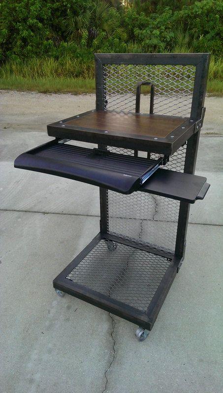 Modern Industrial Standing Desk 026 Industrial Style Furniture