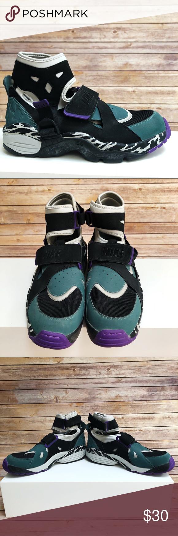 Nike Air Huaraches in Black/silver/green/purple   Nike air ...