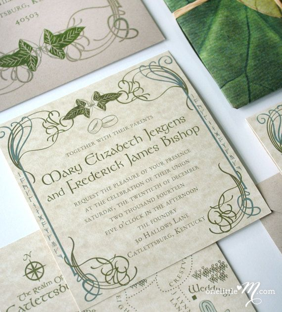 Lord Of The Rings Wedding Invitations Part One Hochzeit