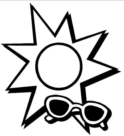 Sunshine & Shades Color sheet | Coloring Pages, Clip Art, Etc ...