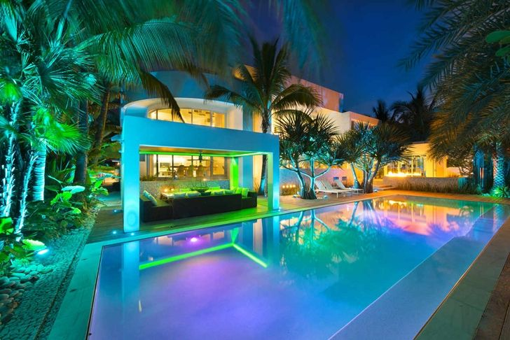 Big Beautiful Modern Mansions high end luxurious modern mansion with colorful lighting located
