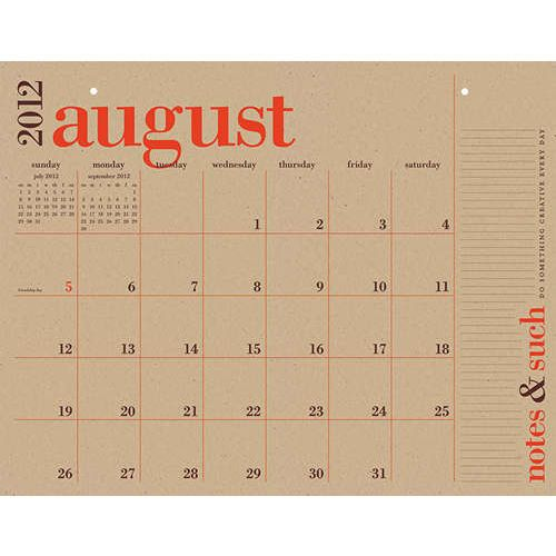Great Big Academic 2013 Desk Pad from Paper Source.    I cannot live without this lovely number. No others will do.