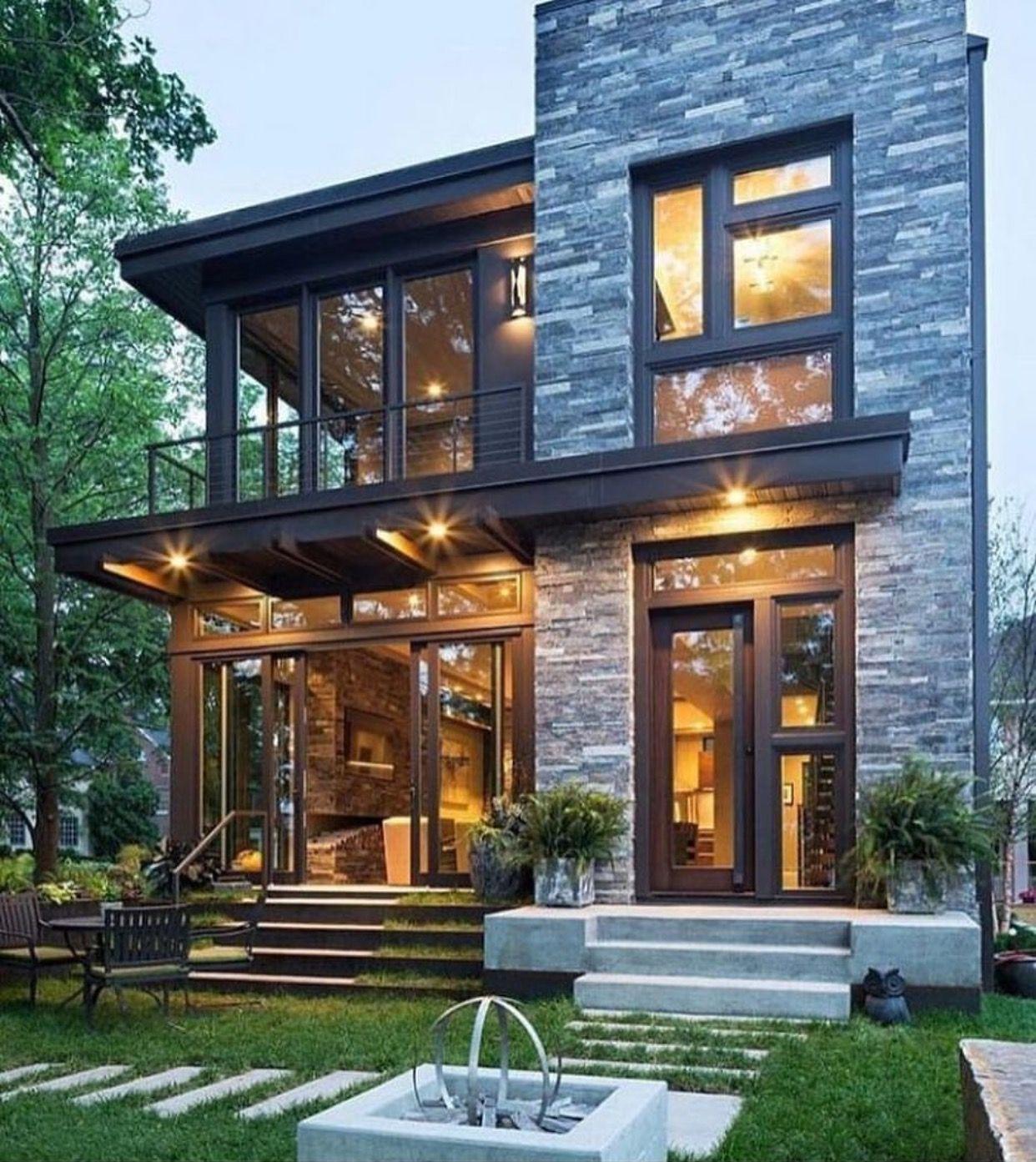 Kleines haus außendesign casas modernas y coloniales y rústicas  haus exterieur  pinterest
