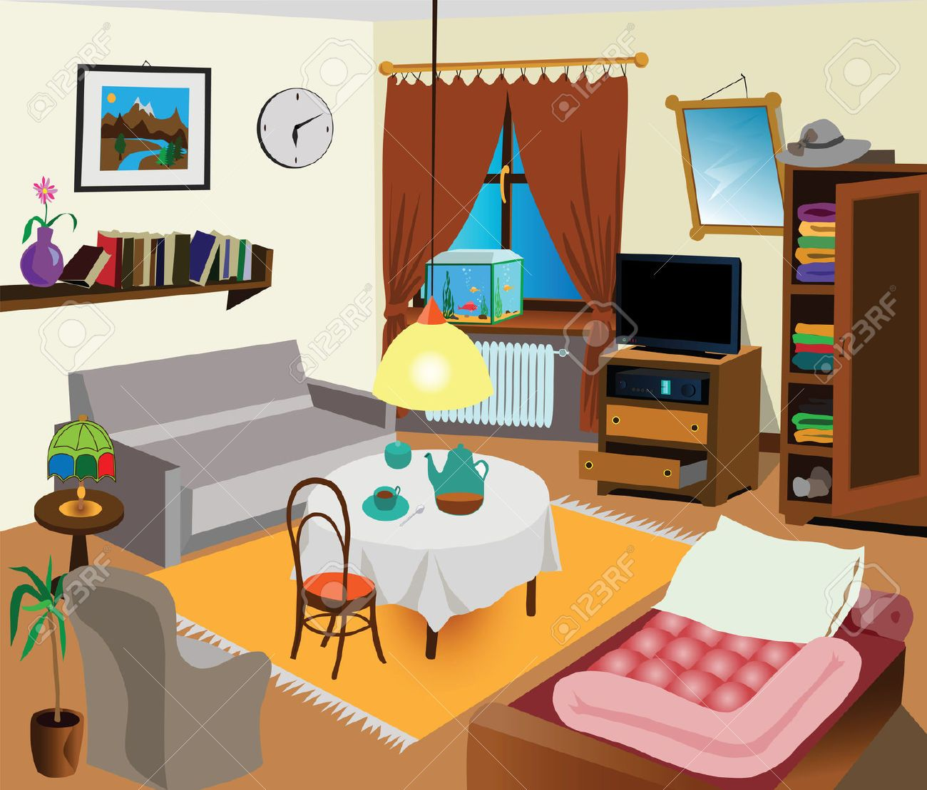 Schlafzimmer Dict Living Room Clipart - Google Search | Living Room Clipart ...