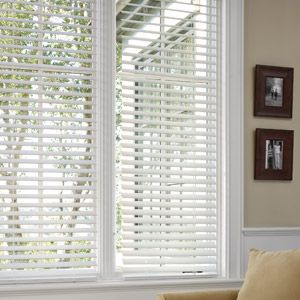 Better Homes and Gardens 2 Faux Wood Blinds, White (Formerly Canopy 2 Faux Wood Blinds, White)