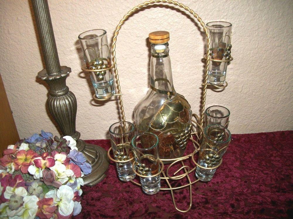 Liquor serving set decorative barware tequila decanter