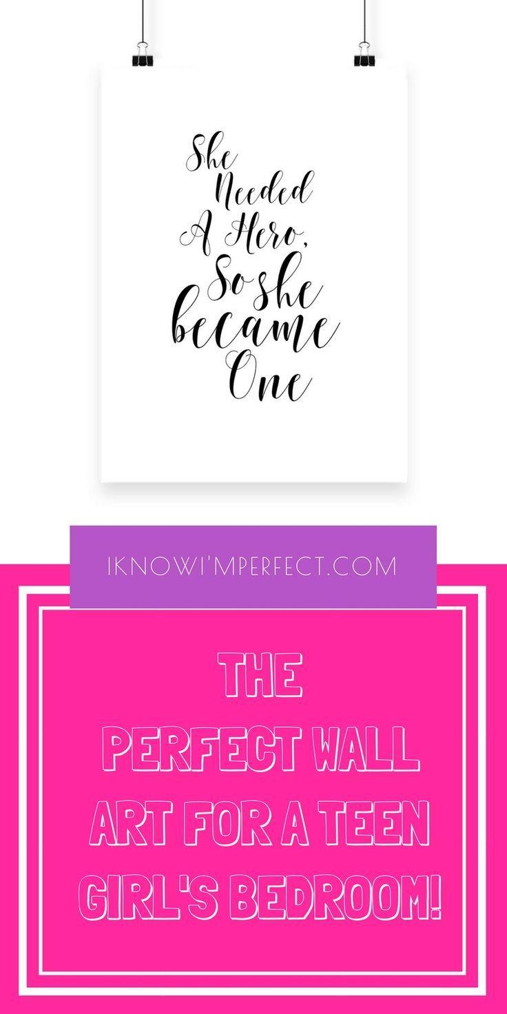 Girl power bedroom decor for teen girls wall art for teen girls