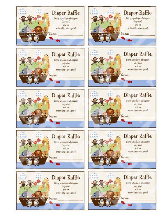 Diaper raffle https\/\/wwwetsy\/listing\/191691523\/printable - free raffle tickets template