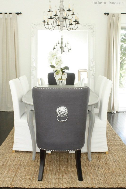 Love The Two Head Chairs Grey And Rest Neutral Luxury Dining