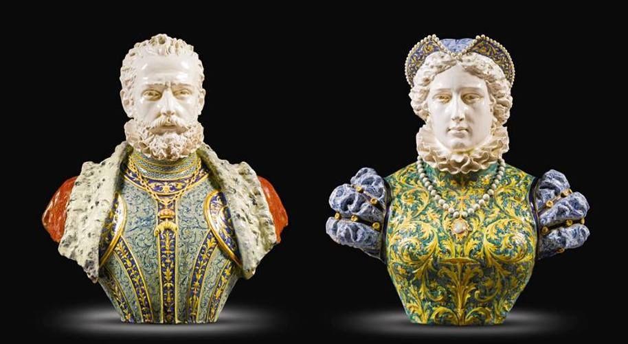 Majolica Henry Iv And Maria De Medici 19th Century In 2020 European Sculpture Statue Buddha Statue