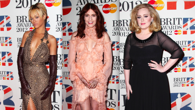 2012 Brit Awards red carpet looks.