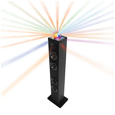 Polaroid Bluetooth Wireless Tower Speaker With Disco Party Lights