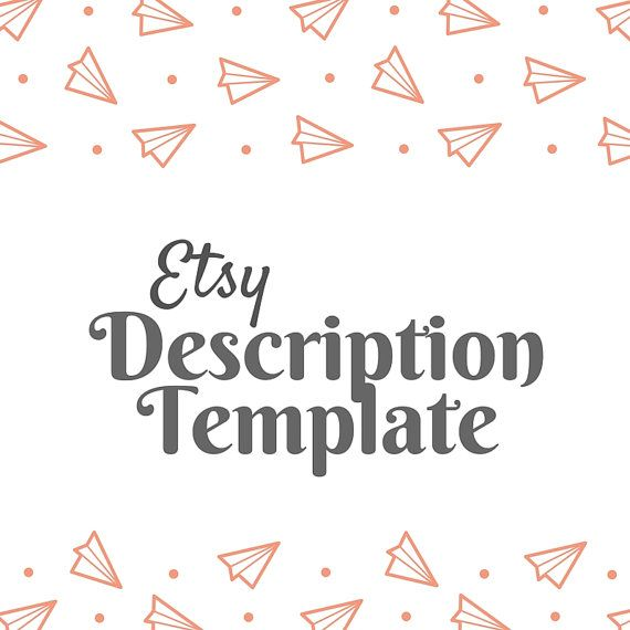 Description Template  Etsy Product Template  Etsy Help  Etsy Seo