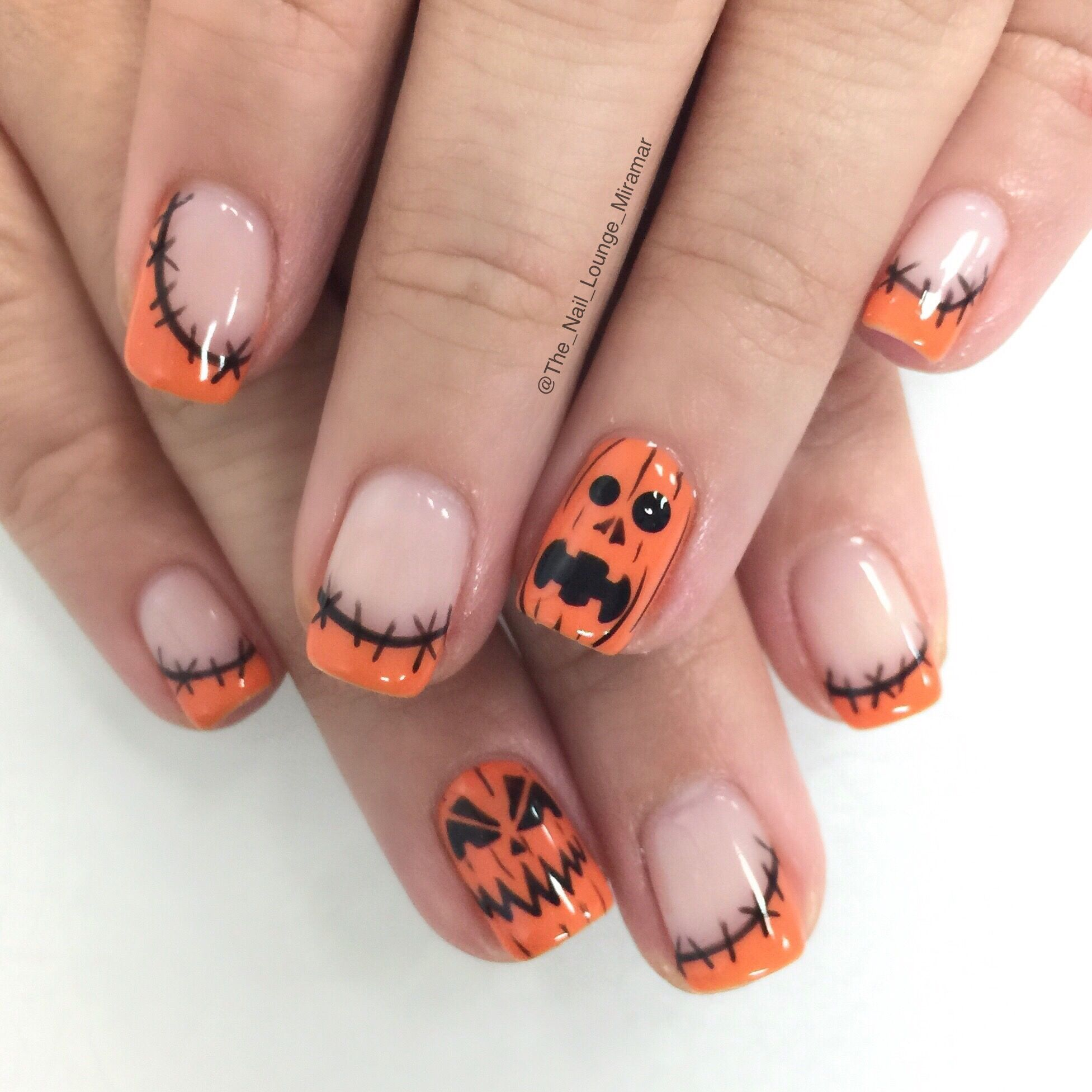 Pumpkin Nail Art Design