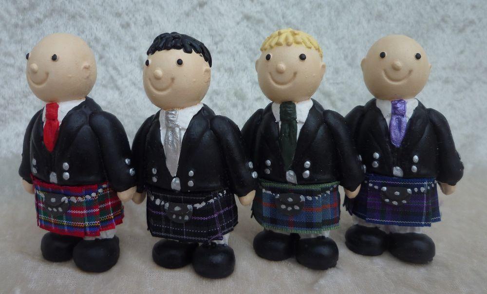 Details about Scottish Wedding Cake Topper - Tartan Kilted ...
