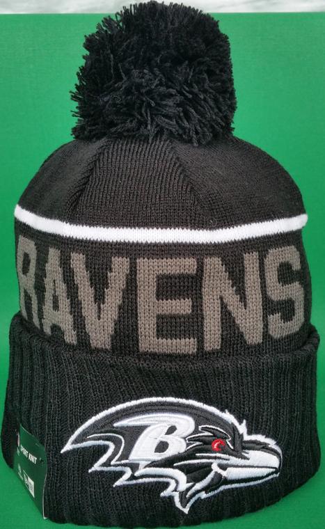Baltimore Ravens Fleece Lined Black Pom Toque Toque
