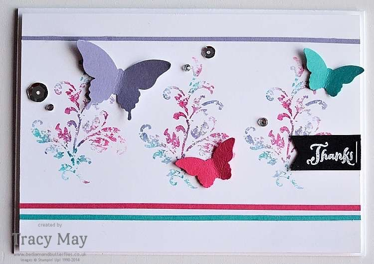 Butterflies & Timeless Textures Stampin' Up! Tracy May #GDP021