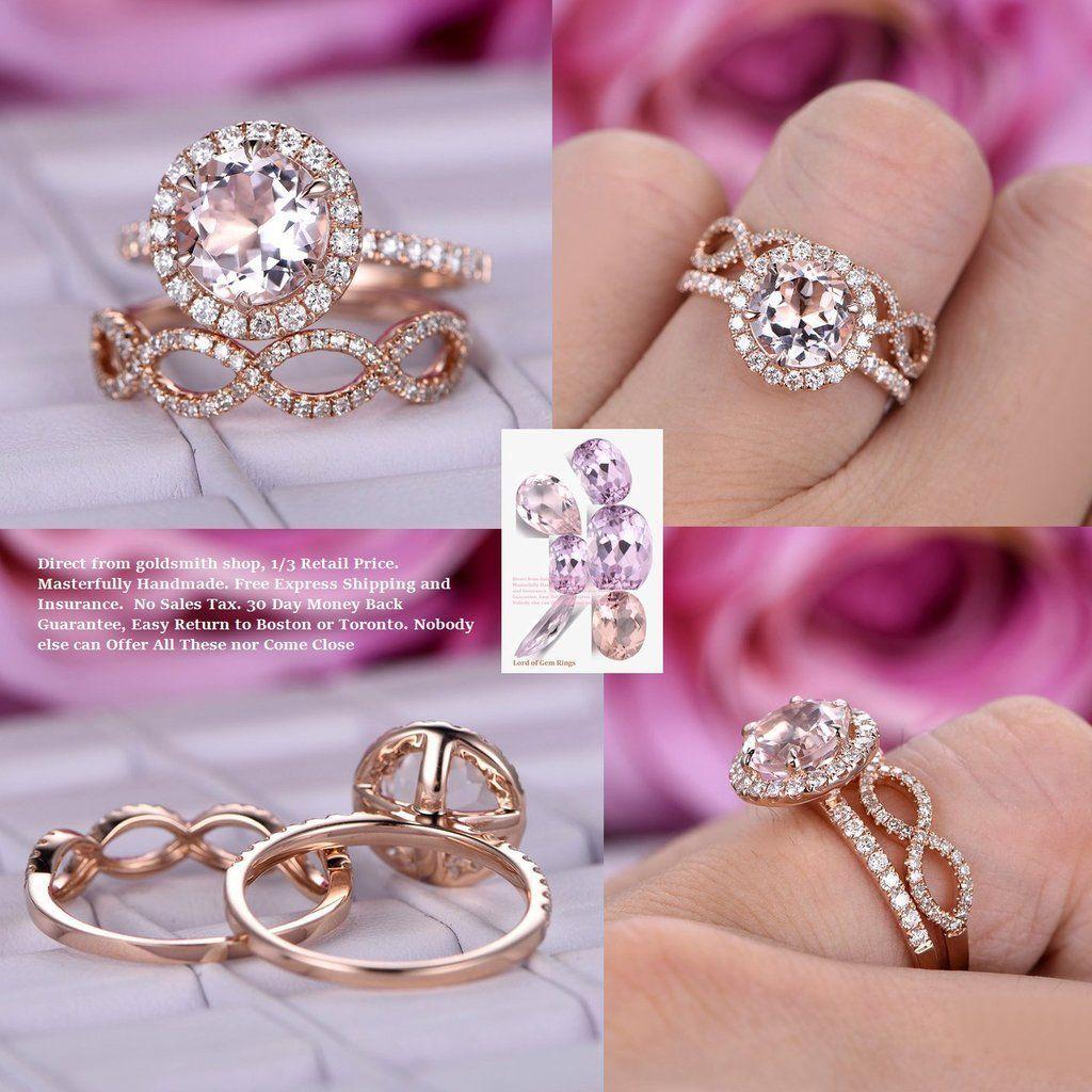 Round Engagement Ring Bridal Sets VS Diamond