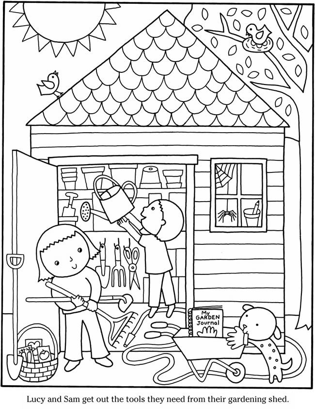 Color & Garden VEGETABLES Dover Publications | Coloring pages 2nd ...