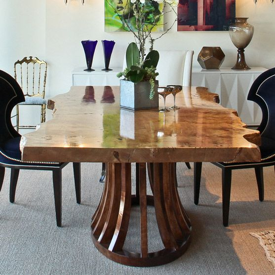 Live Edge Kitchen Table: Live Edge Dining Table