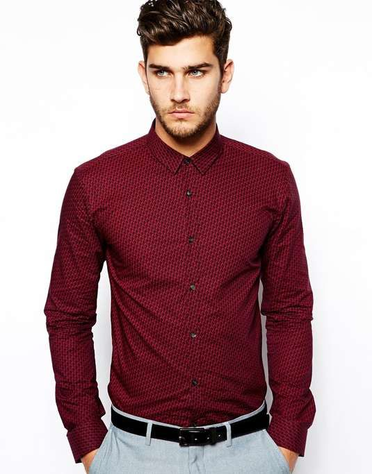 ASOS | HUGO by Hugo Boss Shirt with All Over Print #asos #shirt