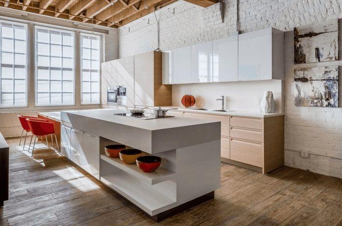 Stolvolle kücheninsel mit spüle