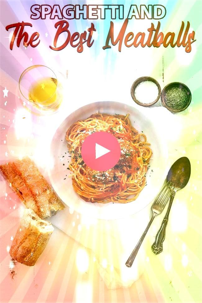 Spaghetti and The Best Meatball Recipe Ever  Enjoy a classic delicious weeknight meal with this spaghetti and homemade meatballs recipe that comes together in under 1 hou...