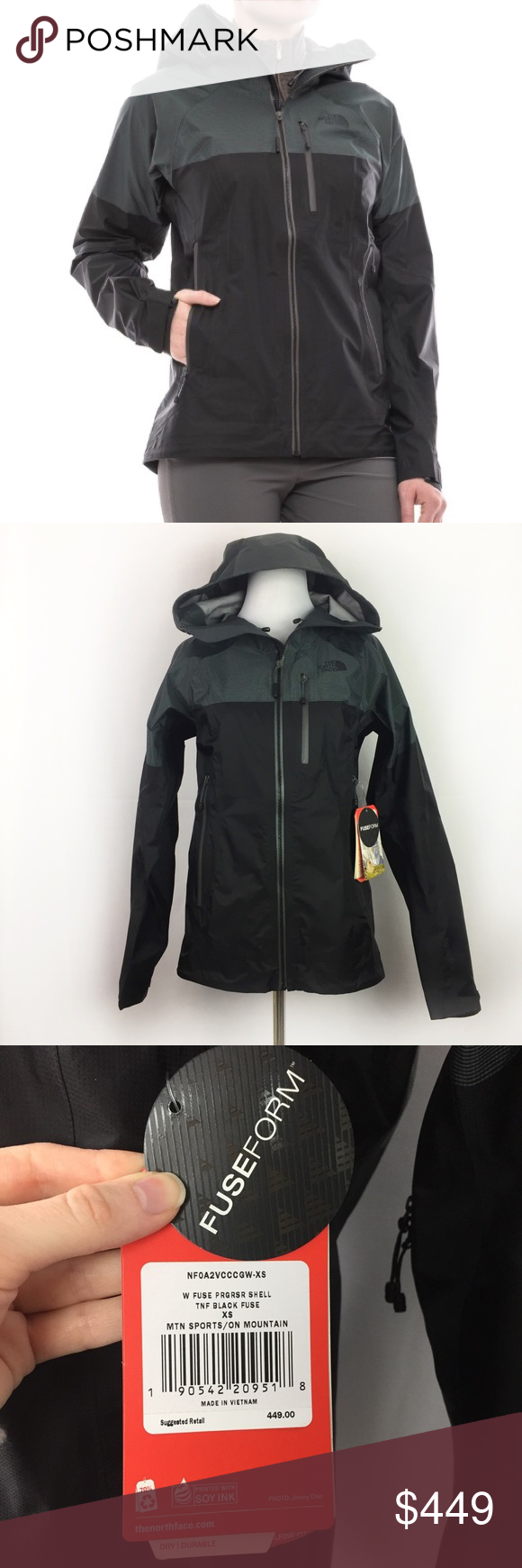New The North Face Fuseform Progressor Goretex Shell Women/'s Jacket XS $449