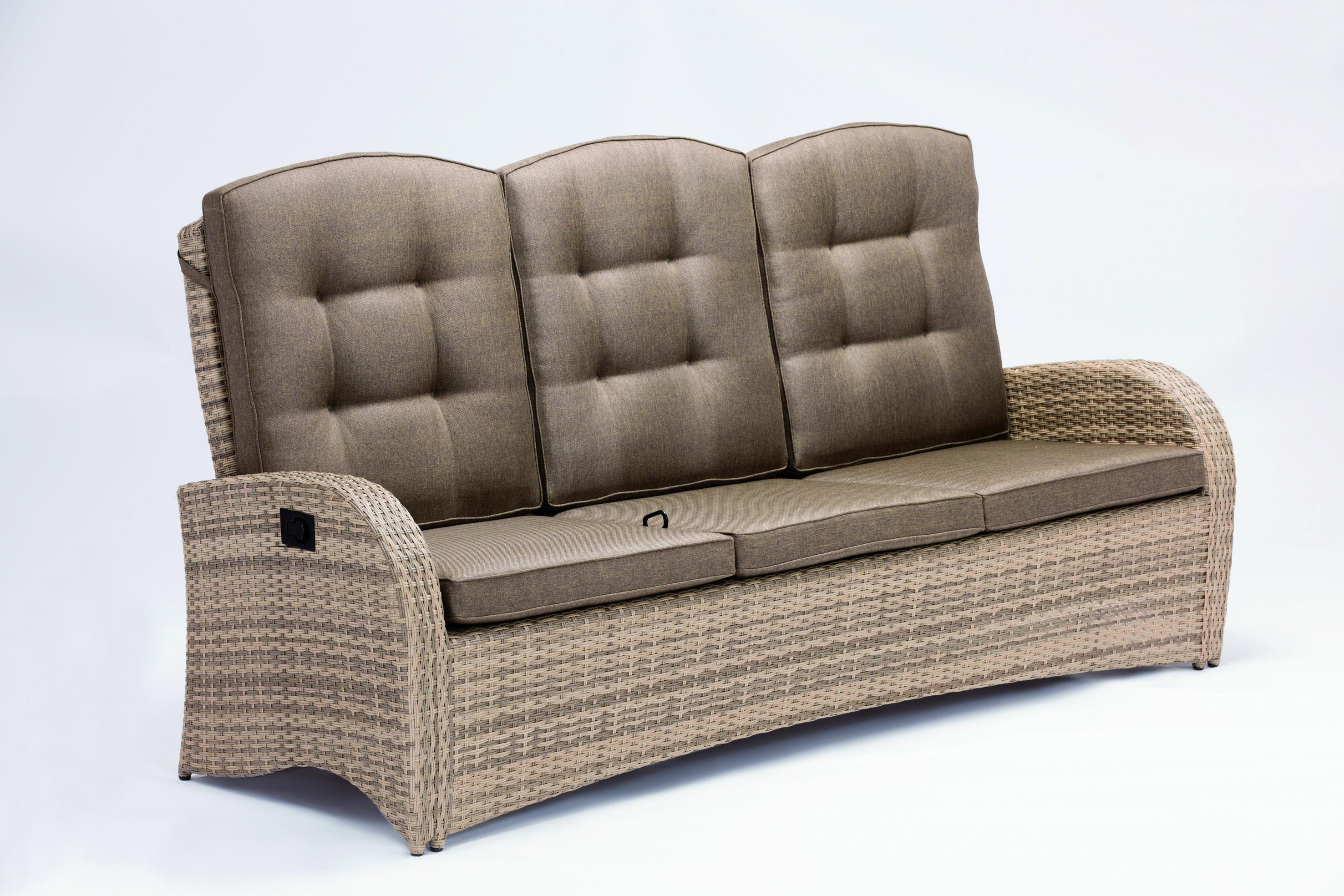 3er Sofa Aus Der Turin Serie Aus Polyrattan Gartenmobel Gartensofa Garten Terrasse Wintergarten Couch Sofa Rattan Furniture Set Furniture 3 Seater Sofa