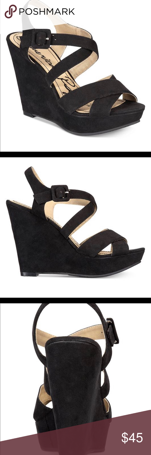 84b152e8b9e3 Black suede wedges make an offer!!! Super comfy and elegant