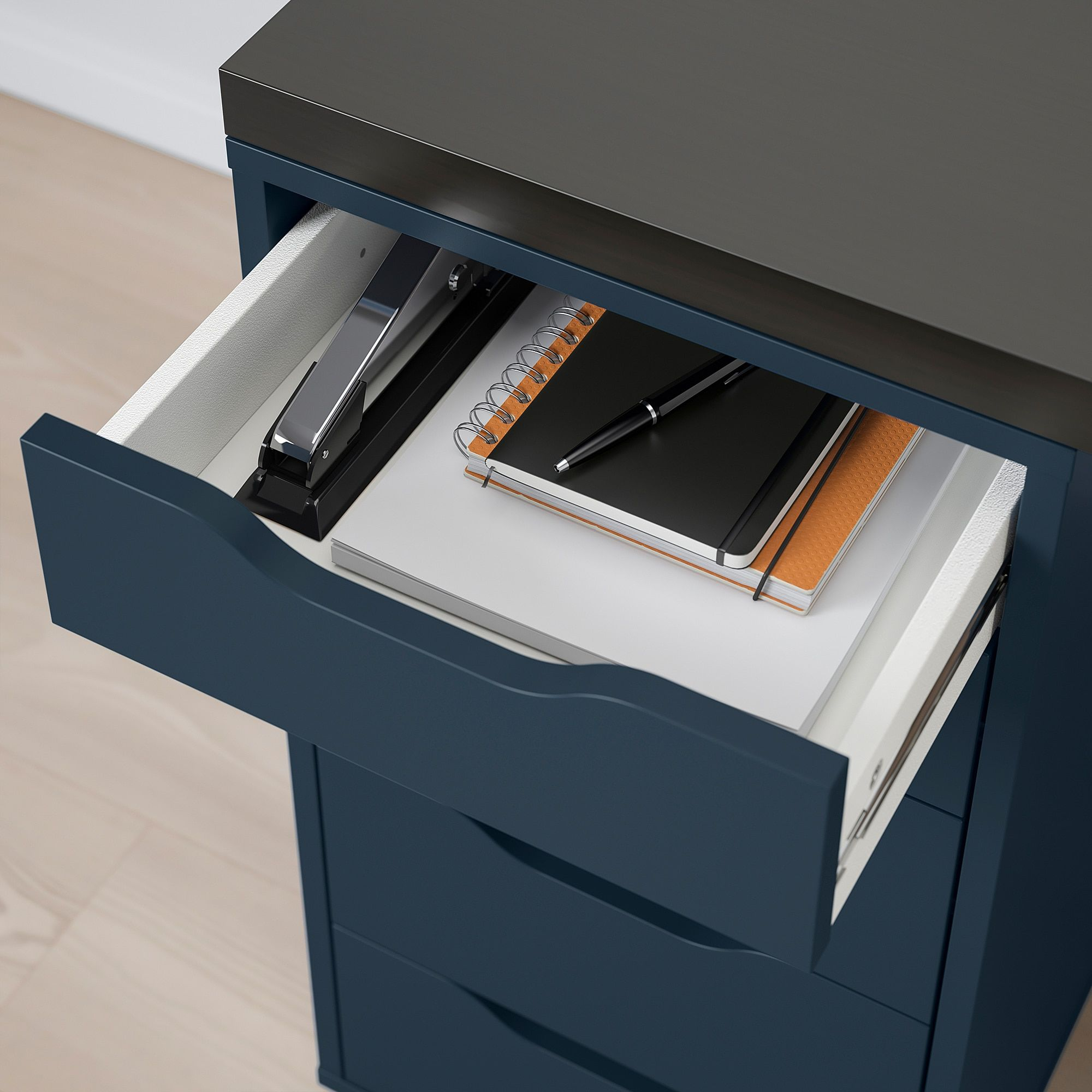 Linnmon Alex Table Black Brown Blue 59x29 1 2 Buy Online Or In Store Ikea Ikea Drawer Unit Linnmon Table Top