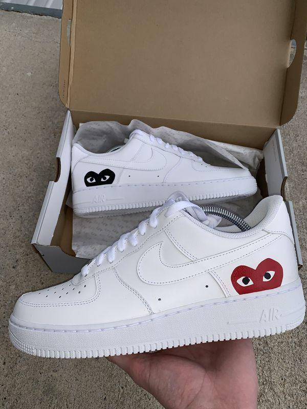 Air Force 1 x CDG | Nike air shoes, Nike shoes air force